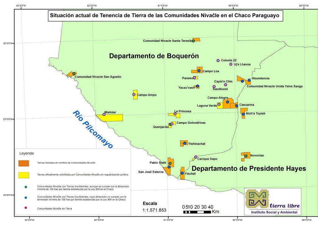 Situación de Tierras Nivacle 2012